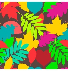 Fall pattern seamless background of autumnal vector image vector image