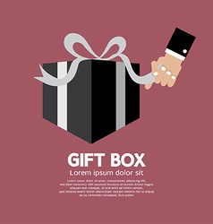 Gift Box Unboxing vector image vector image