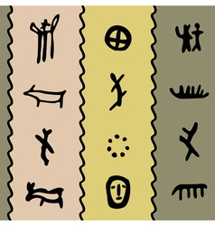 petroglyph pattern vector image vector image