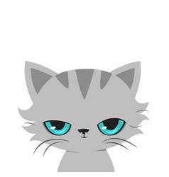 angry cat cartoon cute grumpy cat vector image vector image