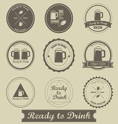 Beer Brewed Label vector image vector image