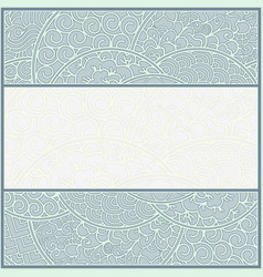 card or frame template art-nouveau style vector image vector image