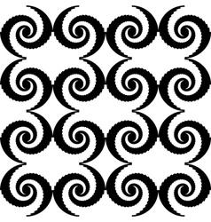 Design seamless monochrome spiral movement pattern vector image vector image