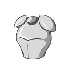 Metal combat helmet icon black monochrome style vector image vector image