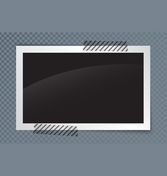 realistic photo frame with shadow and transparent vector image