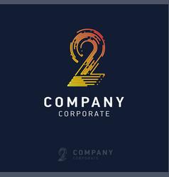 2 company logo design vector image