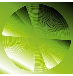 Abstract circles green background vector