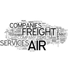 Air freight company text word cloud concept vector