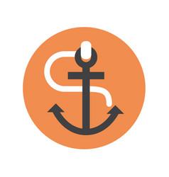 anchor icon ship equipment concept vector image