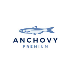 Anchovy fish logo icon vector