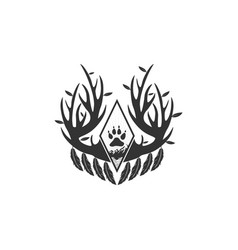 antlers logo designs inspirations vector image