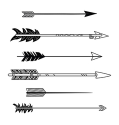 Arrow tribal set vector