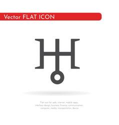 Astronomical symbol of uranus 1 vector