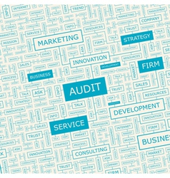 AUDIT vector image