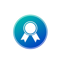 award icon in blue gradient circle isolated on vector image