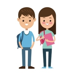 back to school pair students kids smiling vector image