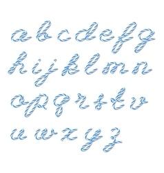 Bakers twine alphabet vector image