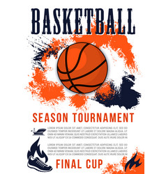 Basketball sport game announcement vector