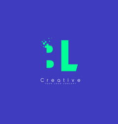 Bl letter logo design with negative space concept vector