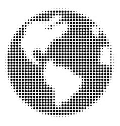 black dotted earth icon vector image