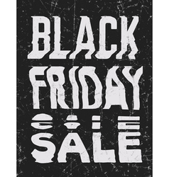 Black Friday Sale glitch art typographic poster vector image