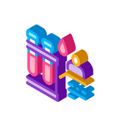 Blood test isometric icon vector