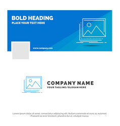 blue business logo template for gallery image vector image