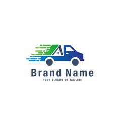 Car design logo and moving house vector
