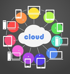 Cloud technology scheme vector image
