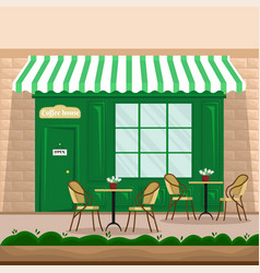 coffee shop facade in retro style vector image