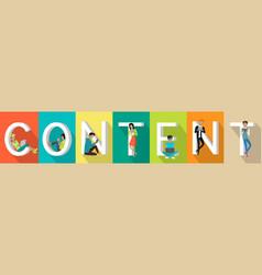 Content banner in flat vector