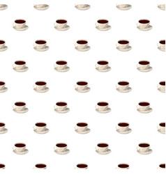 Cup of coffee pattern vector