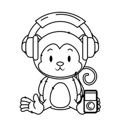 Cute little monkey character vector