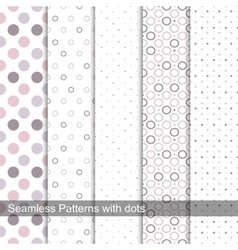 Delicate dotted patterns vector image