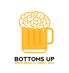 Drink Brain Beer For Great Idea vector