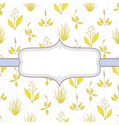 Elegant background with grass vector