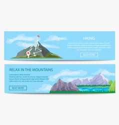 extreme travel and hiking banner set vector image