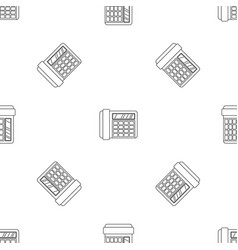 fax telephone pattern seamless vector image