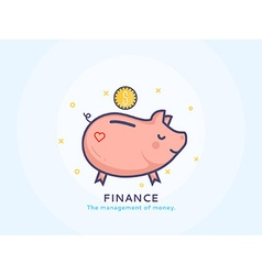 Finance Icon with a Piggy Bank vector
