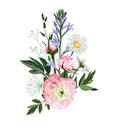 floral bouquet design element pink flower vector image