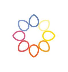 flower logo icon symbol eps10 vector image