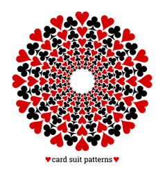 Gambling card suit poker pattern made with hearts vector