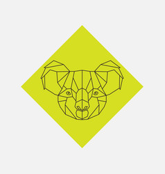 geometric of koala animal head vector image