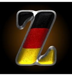 Germany metal figure z vector