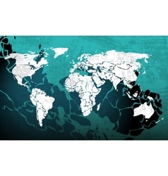 Grunge blue worldmap vector