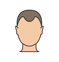 Hair loss man icon cartoon logo loss vector