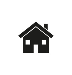 home with windows icon vector image