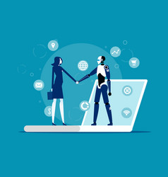 Human interactive tech interaction artificial vector