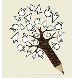 Internet activity concept tree vector