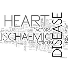 Ischaemic heart disease text background word vector